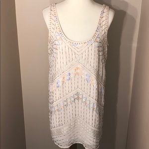 ✨EUC✨Free People Beaded & Embroidered Shift Dress
